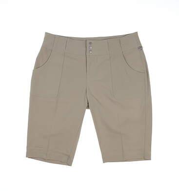 New Womens Jo Fit Golf Shorts 6 Tan MSRP $94 GB717-SND