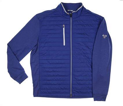 New W/ Logo Mens DONALD ROSS Full Zip Golf Jacket X-Large XL Navy MSRP $200 DR1409-119