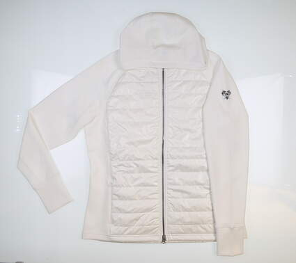 New W/ Logo Womens SUNICE Lola Thermal Jacket Large L Pure White MSRP $163 S62511