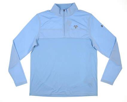New W/ Logo Mens Under Armour 1/4 Zip Golf Pullover X-Large XL Blue MSRP $70 UM7183