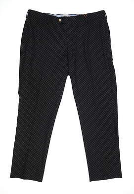New Mens Peter Millar Golf Pants 38 x30 Black MSRP $125 MS19EB80FB