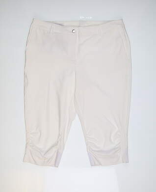 New Womens Cutter & Buck Golf Pants 14 White MSRP $85 LAB0731