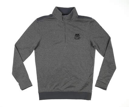 New W/ Logo Mens Under Armour Golf 1/4 Zip Sweater Small S Gray MSRP $70