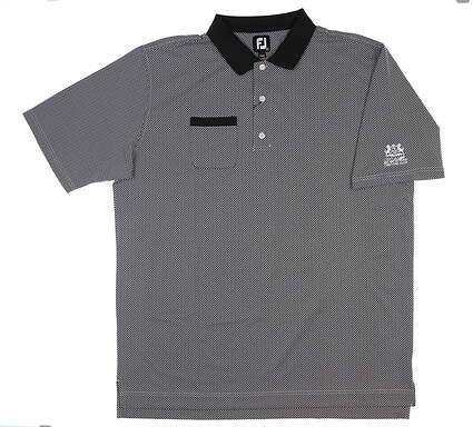 New W/ Logo Mens Footjoy Golf Polo XX-Large XXL Black MSRP $90 26598