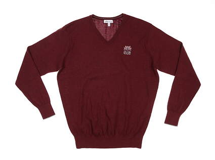 New W/ Logo Mens Peter Millar Comfort Cashmere Sweater Medium M Acai MSRP $325 MF19S14