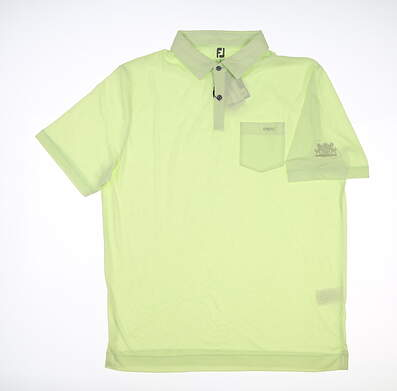 New W/ Logo Mens Footjoy Golf Polo Large L Reed Green MSRP $110 45801