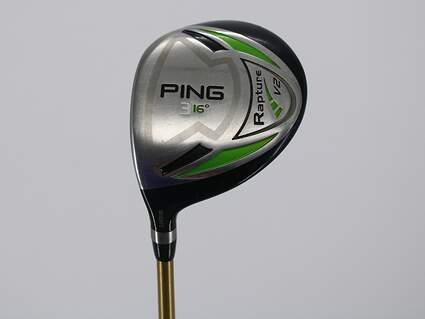 Ping Rapture V2 Fairway Wood 3 Wood 3W 15° Graphite Design Aura Gold 65g Graphite Stiff Left Handed 43.25in