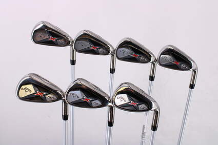 Callaway X Hot 19 Iron Set 5-PW GW Project X PXv Graphite Regular Right Handed 38.0in