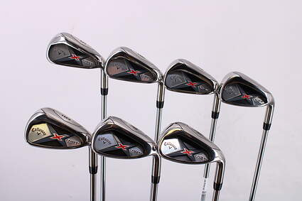 Mint Callaway X Hot 19 Iron Set 5-PW GW True Temper XP 85 Steel Regular Right Handed 38.0in