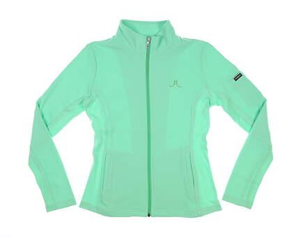 New W/ Logo Womens Straight Down Swing Jacket Medium M Green MSRP $94 W60118
