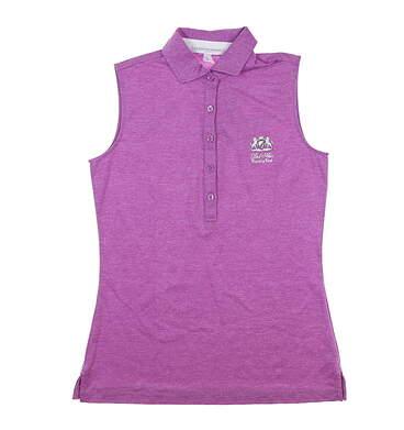 New W/ Logo Womens Fairway & Greene Sleeveless Polo X-Small XS Purple MSRP $80 E32230