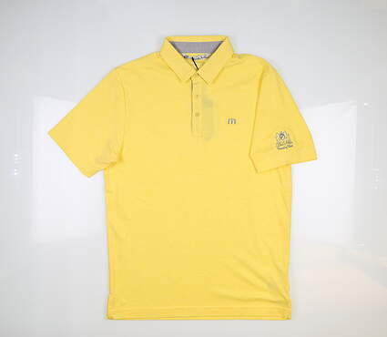 New W/ Logo Mens Travis Mathew Torres Polo Small S Yellow MSRP $85 1MN104