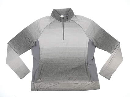New Womens Adidas 1/4 Zip Golf Pullover XX-Large XXL Gray MSRP $70 TW4092S8