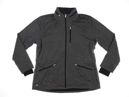 New Womens Adidas Softshell Jacket X-Large XL Black Heather MSRP $150 TW5127F6