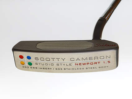 Mint Titleist Scotty Cameron Studio Style Newport 1.5 Putter Steel Right Handed 35.0in