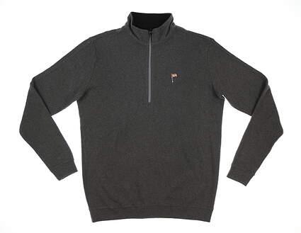 New W/ Logo Mens Straight Down Burnside 1/4 Zip Pullover Medium M Gray MSRP $120 60270