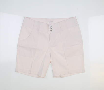 New Womens Jo Fit Belted Golf Shorts 4 White MSRP $82 GB505-WHT