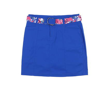 New Womens Jo Fit Belted On Course Skort 4 Blue MSRP $90 GB077-NTB