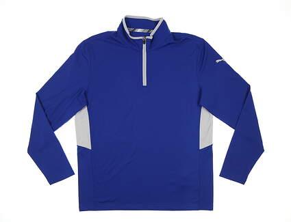New Mens Puma Rotation 1/4 Zip Pullover Medium M Mazarine Blue MSRP $65 577900 36