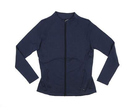 New Womens Puma Cloudspun Full-Zip Jacket Small S Navy Blazer MSRP $80 599265 03