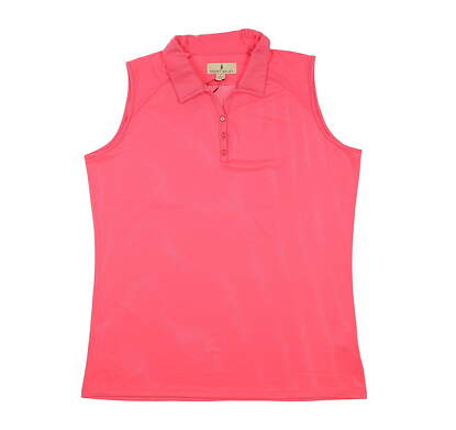 New Womens Sport Haley Golf Sleeveless Polo Large L Pink MSRP $78 H10102TM