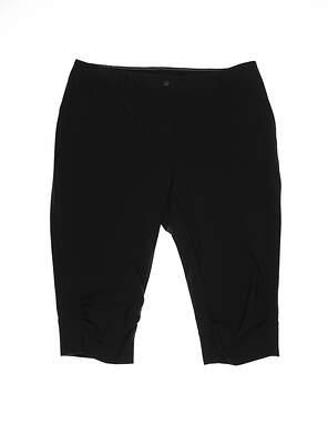 New Womens Cutter & Buck Golf Pants 12 Black MSRP $85 LAB0731