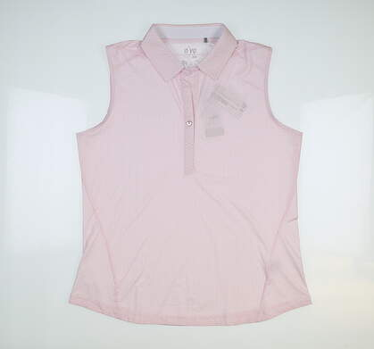 New Womens Nivo Sport Willow Sleeveless Polo Large L Pink Mist MSRP $72 NI3210174