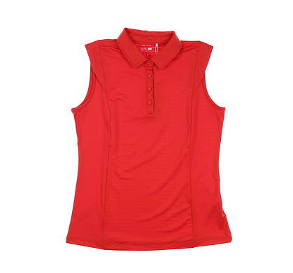 New Womens Nivo Sport Alise Sleeveless Polo Small S Red MSRP $72 NI0210145