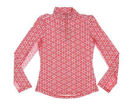 New Womens Nivo Sport Lia Mock 1/4 Zip Pullover X-Small XS Red MSRP $88 NI0210159