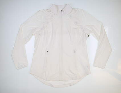 New Womens Jo Fit Wind Jacket w/ Removable Sleeves Large L White MSRP $150 UT103-WHT