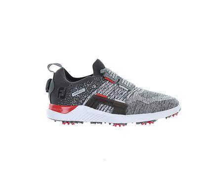New Mens Golf Shoe Footjoy 2021 HyperFlex BOA Medium 9.5 White/Grey MSRP $180 51083