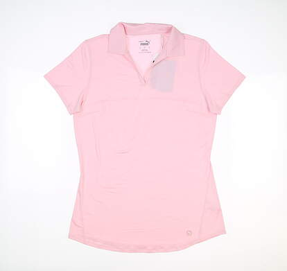 New Womens Puma Cloudspun Free Polo Small S Parfait Pink MSRP $60 597695 23