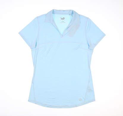 New Womens Puma Cloudspun Free Polo Small S Corydalis Blue MSRP $60 597695 24