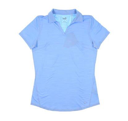 New Womens Puma Cloudspun Free Polo Small S Placid Blue MSRP $60 597695 19