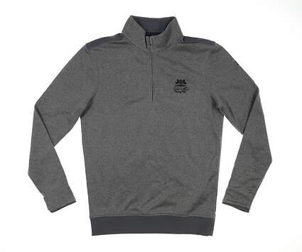 New W/ Logo Mens Under Armour Golf 1/4 Zip Sweater Medium M Gray MSRP $70