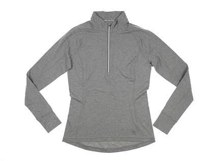 New Womens Puma Proven 1/4 Zip Pullover Small S Medium Gray MSRP $65 577943 02