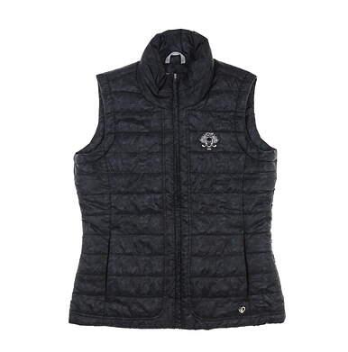New W/ Logo Womens Straight Down Golf Vest Medium M Black MSRP $120