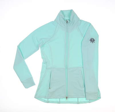 New W/ Logo Womens Peter Millar Munroe Jacket Large L Blue MSRP $135 LS20EK16