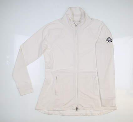 New W/ Logo Womens Peter Millar Munroe Jacket Large L White MSRP $135 LS20EK16