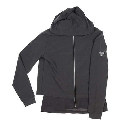 New W/ Logo Womens Footjoy Full Zip Woven Jacket Small S Charcoal MSRP $173 27612
