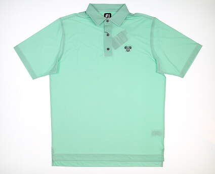 New W/ Logo Mens Footjoy Houndstooth Polo Large L Spearmint/White MSRP $87 26229