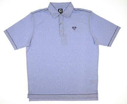 New W/ Logo Mens Footjoy Microstripe Polo X-Large XL Royal Blue/White MSRP $84 26172