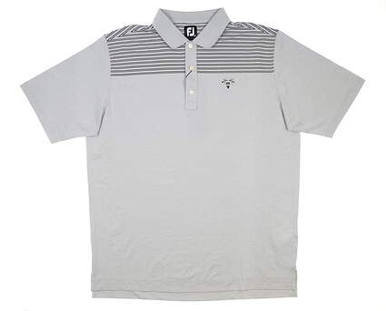 New W/ Logo Mens Footjoy Feeder Color Block Polo X-Large XL Heather Gray MSRP $88 26211