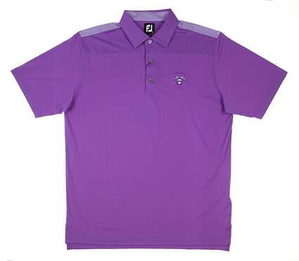 New W/ Logo Mens Footjoy Four Dot Polo Large L Purple MSRP $77 26221