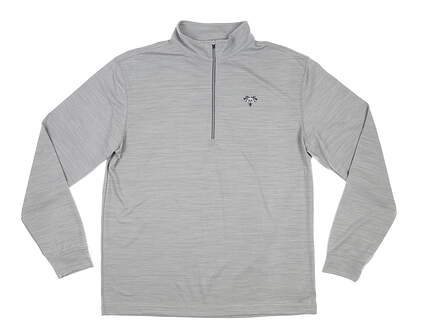 New W/ Logo Mens Straight Down Ranger 1/2 Zip Pullover X-Large XL Gray MSRP $90 60451