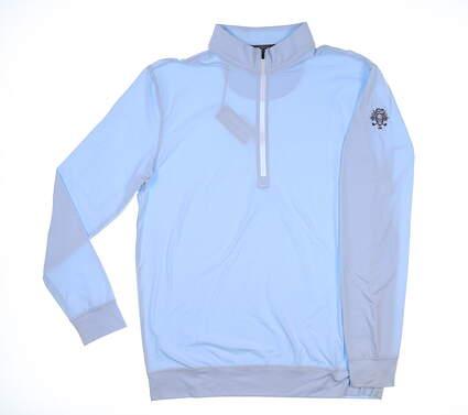 New W/ Logo Mens Straight Down Ballard 1/2 Zip Pullover Medium M Blue MSRP $115 60473