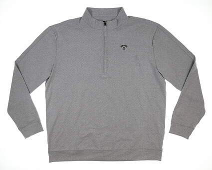 New W/ Logo Mens Straight Down Baron 1/2 Zip Pullover XX-Large XXL Gray MSRP $120 60455