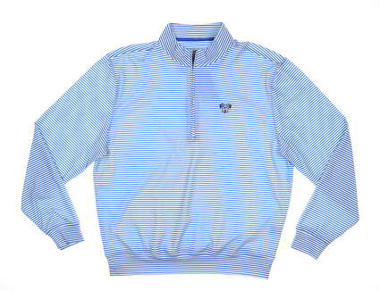 New W/ Logo Mens DONALD ROSS 1/2 Zip Golf Pullover Large L Pacific MSRP $120 DR178-119
