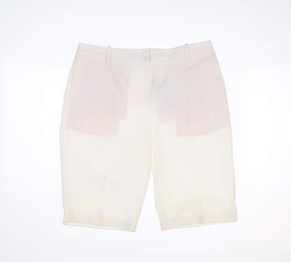New Womens Fairway & Greene Golf Shorts 4 White MSRP $95 E12183