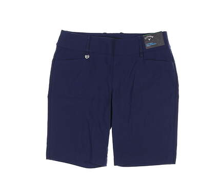 New Womens Callaway Golf Shorts Large L Navy Blue MSRP $63